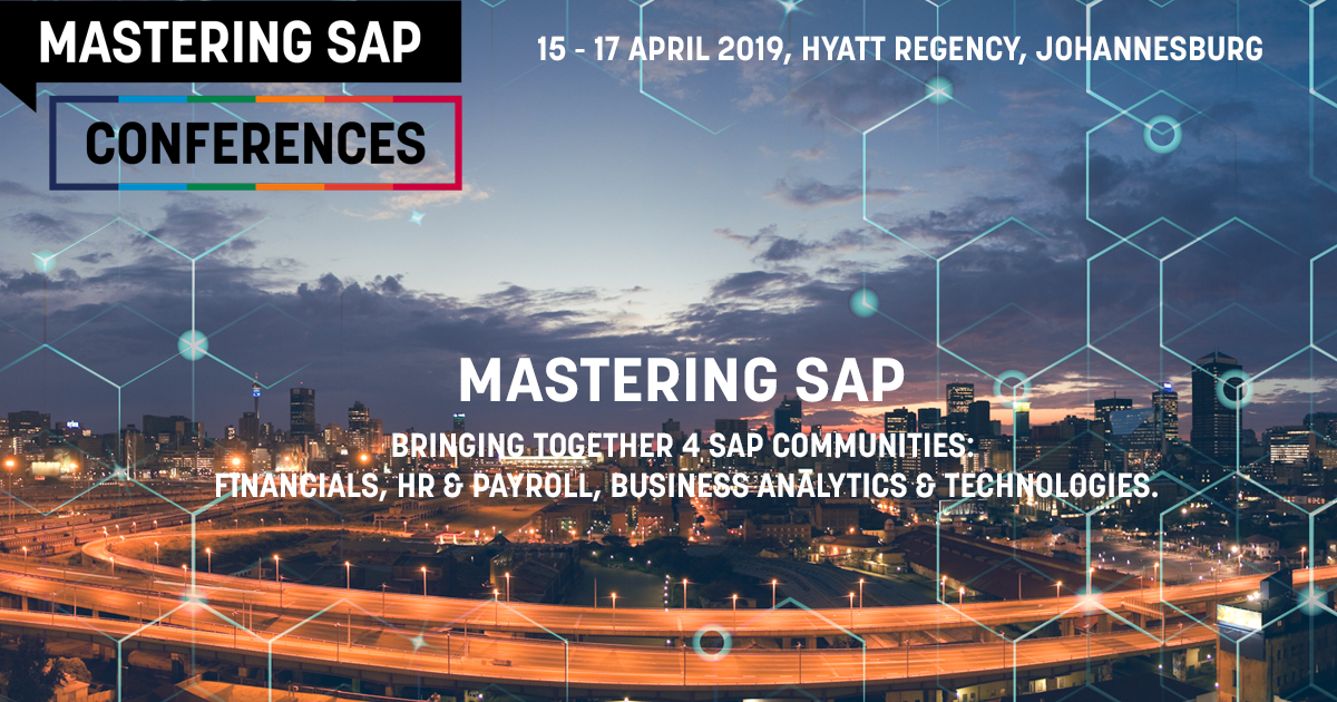 Mastering SAP Conference 2020 - Mastering SAP 4 Conferences in 1